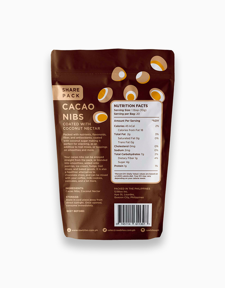 Raw Bites Cacao Nibs Coated With Coconut Nectar (200g) by Raw Bites PH