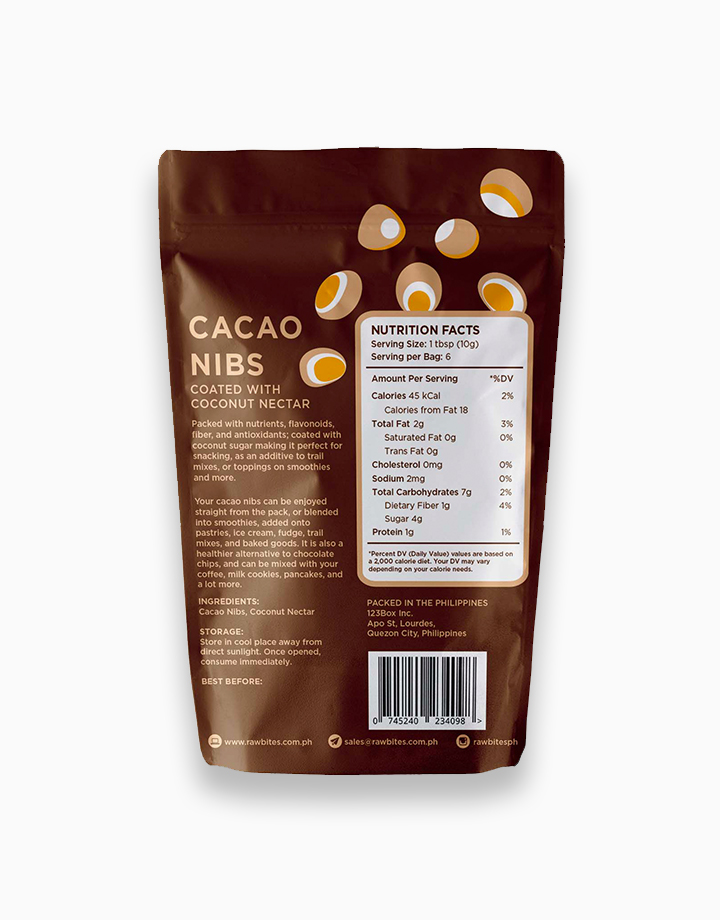 Raw Bites Cacao Nibs Coated with Coconut Nectar (60g) by Raw Bites PH