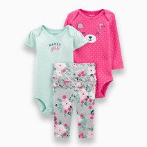 Baby Girl 3-Piece Happy Girl Bodysuit Little Character Set by Carter's
