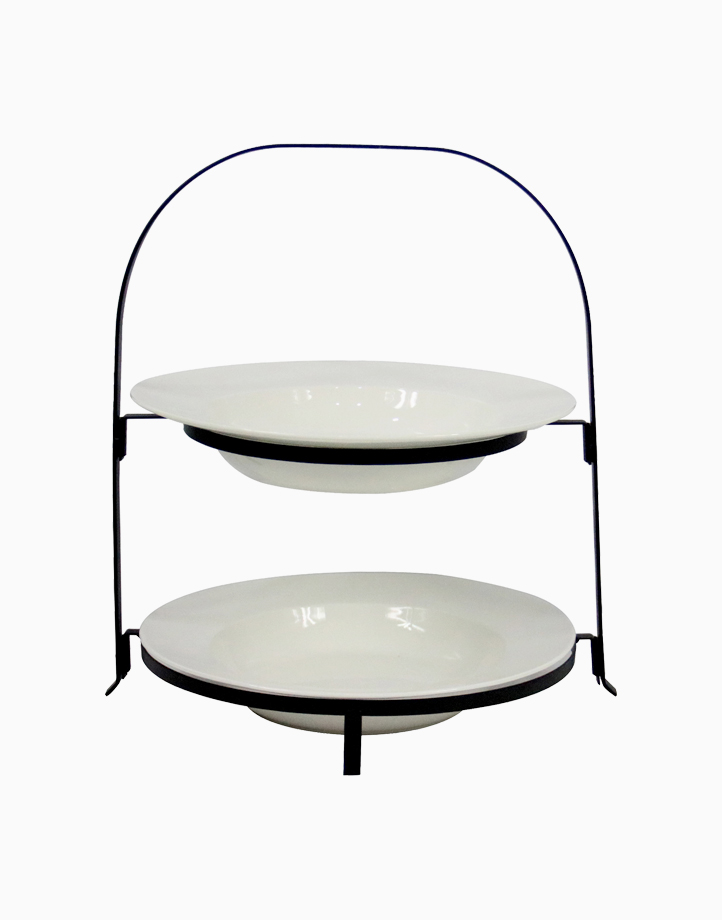 Naim 2-Tier Round Bowl With Collapsible Rack by Omega Houseware
