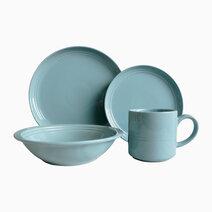 Alizah 8pc Stoneware Dinner Set in Blue by Omega Houseware