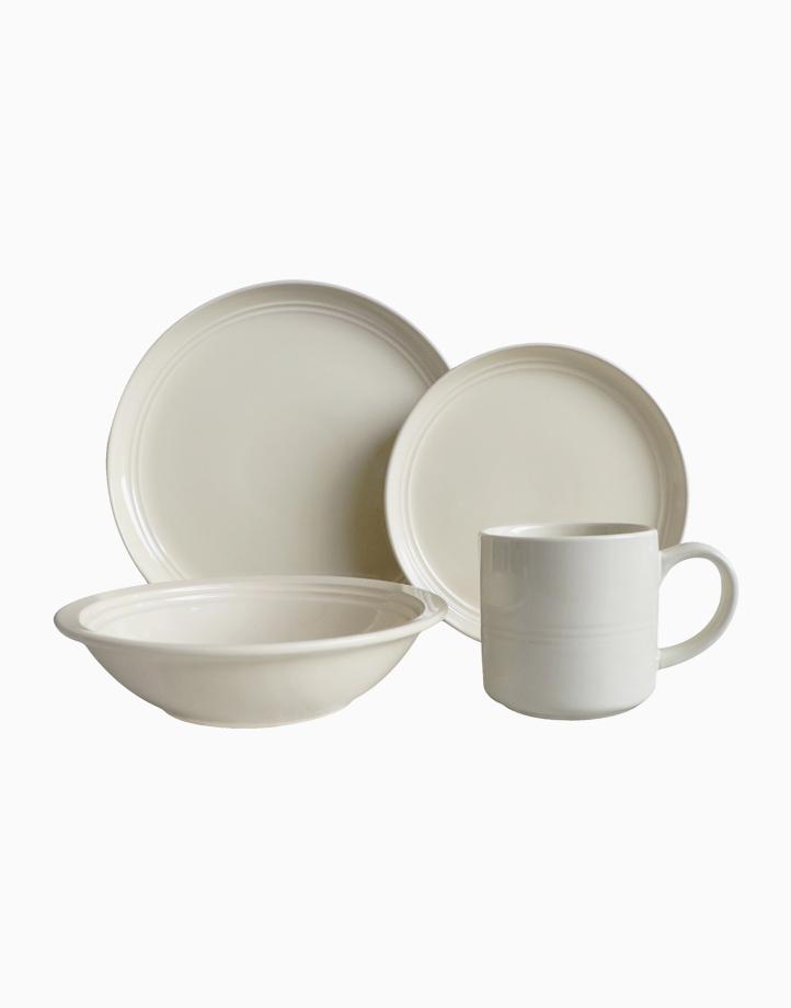 Alizah 8pc Stoneware Dinner Set in White by Omega Houseware