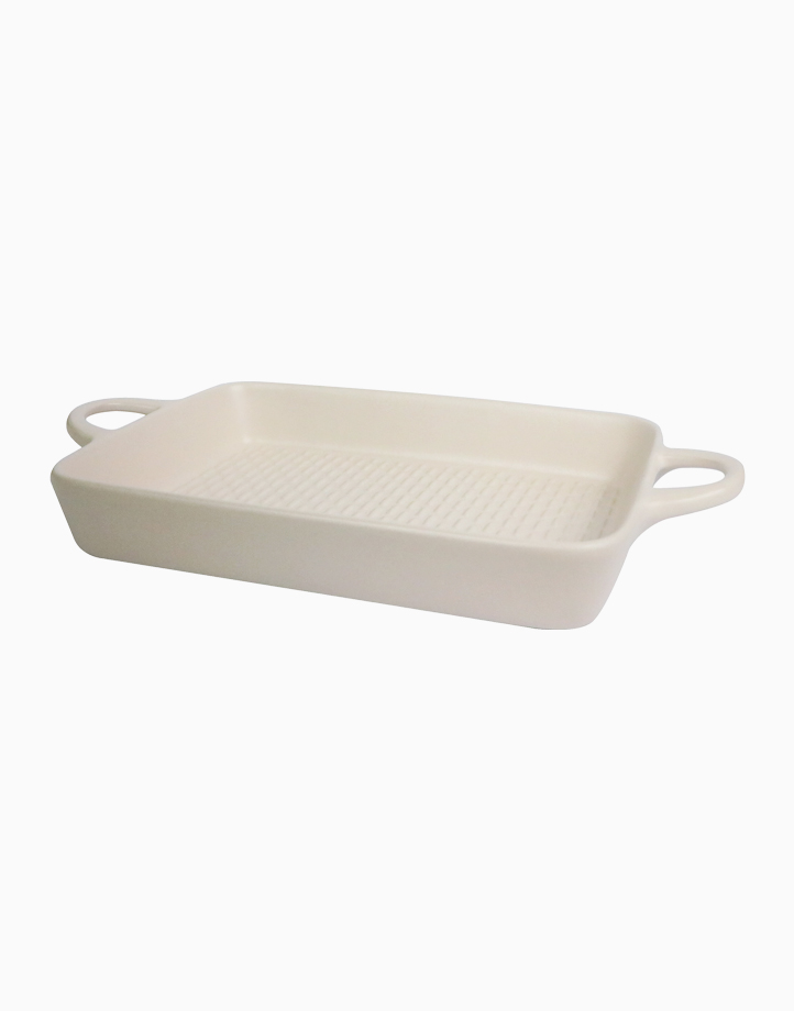 Ava Rectangular Stoneware Bakeware (650ml) by Omega Houseware