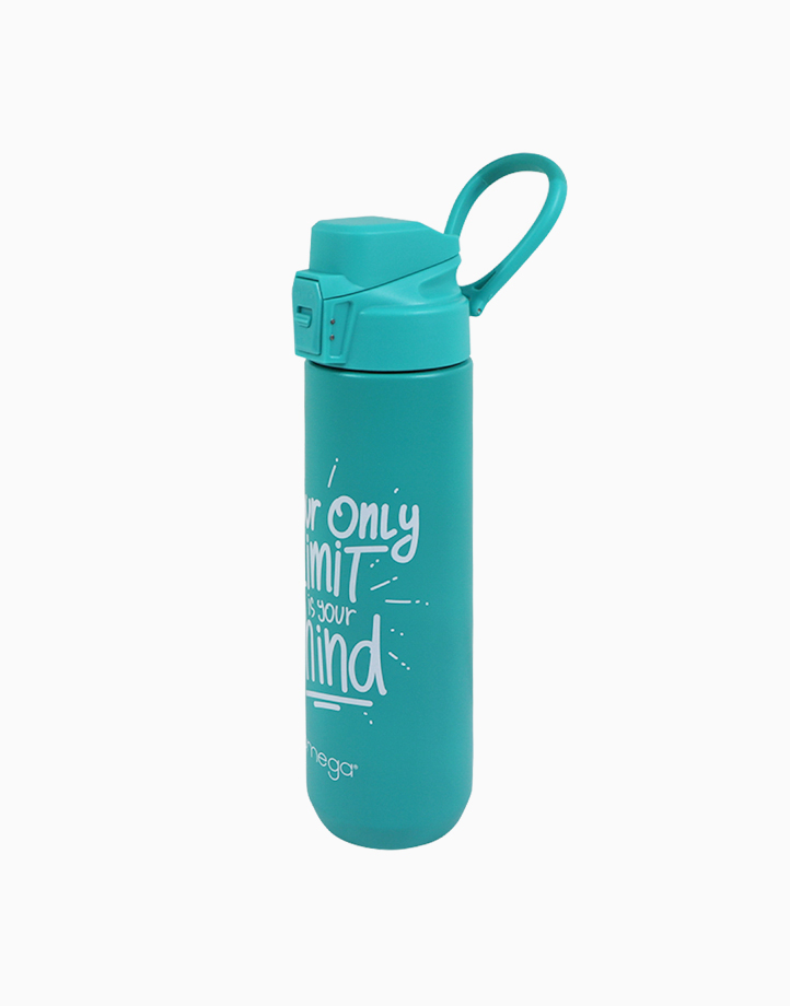 Nash Green Double Wall Stainless Steel Water Bottle w/ Powder Coating in Gift Box (700ml) by Omega Houseware
