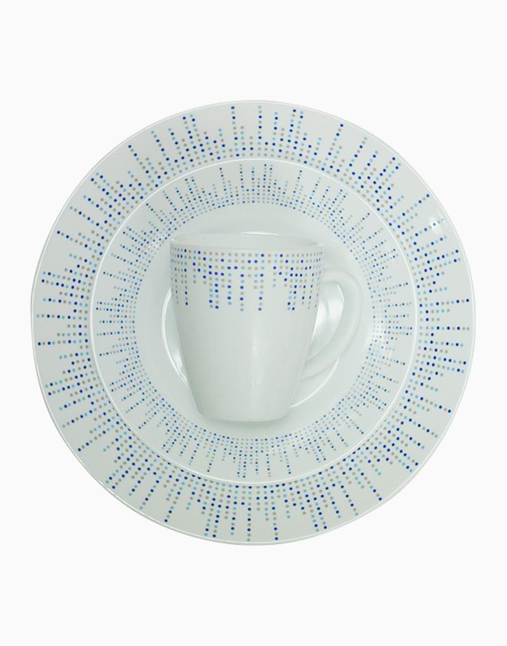 Maura Printed Flare Opal Dinner 6-Piece Set (Blue) by Omega Houseware