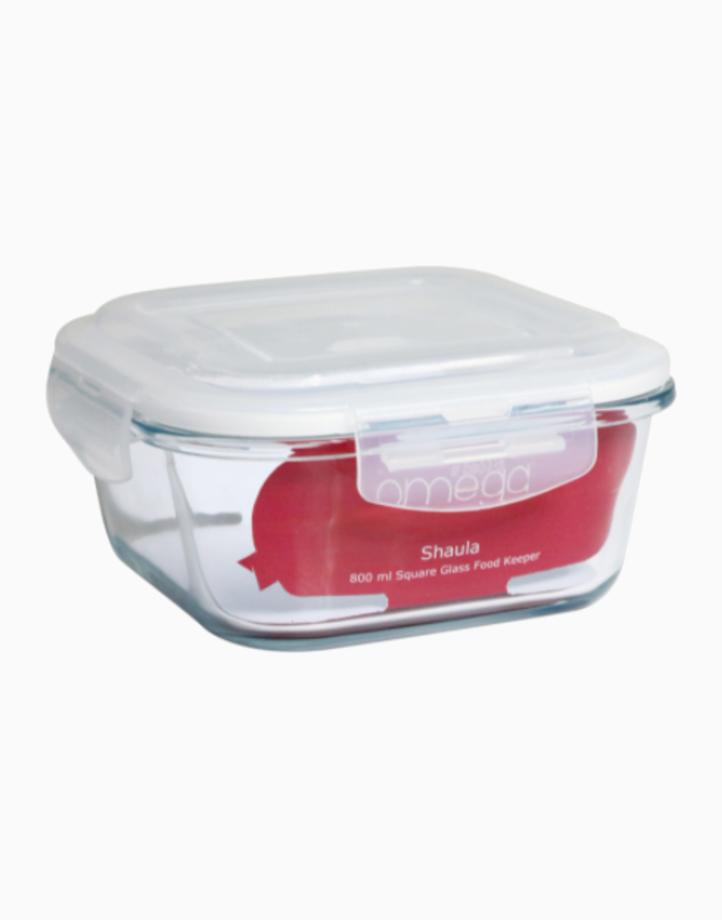Shaula 800ml Square Glass Food Keeper by Omega Houseware