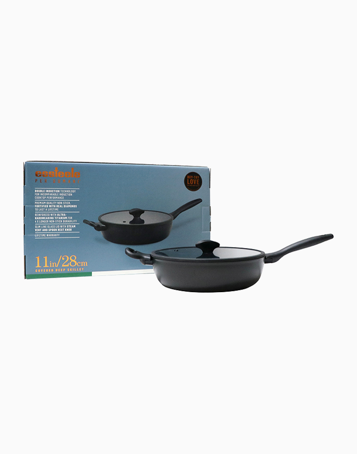 Per Domani 28cm Deep Covered Skillet with Lid by Essteele