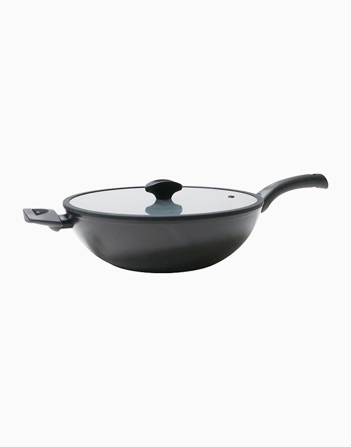 Per Domani 30cm Covered Wok with Lid by Essteele