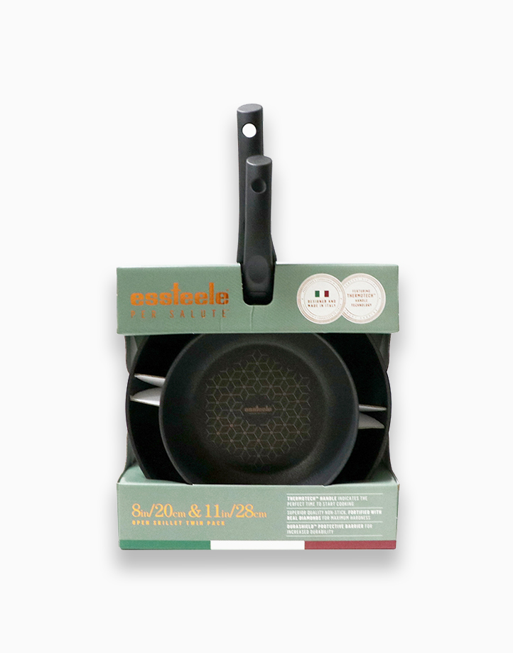 Per Salute 20 and 28Cm Open French Skillet Twin Pack by Essteele