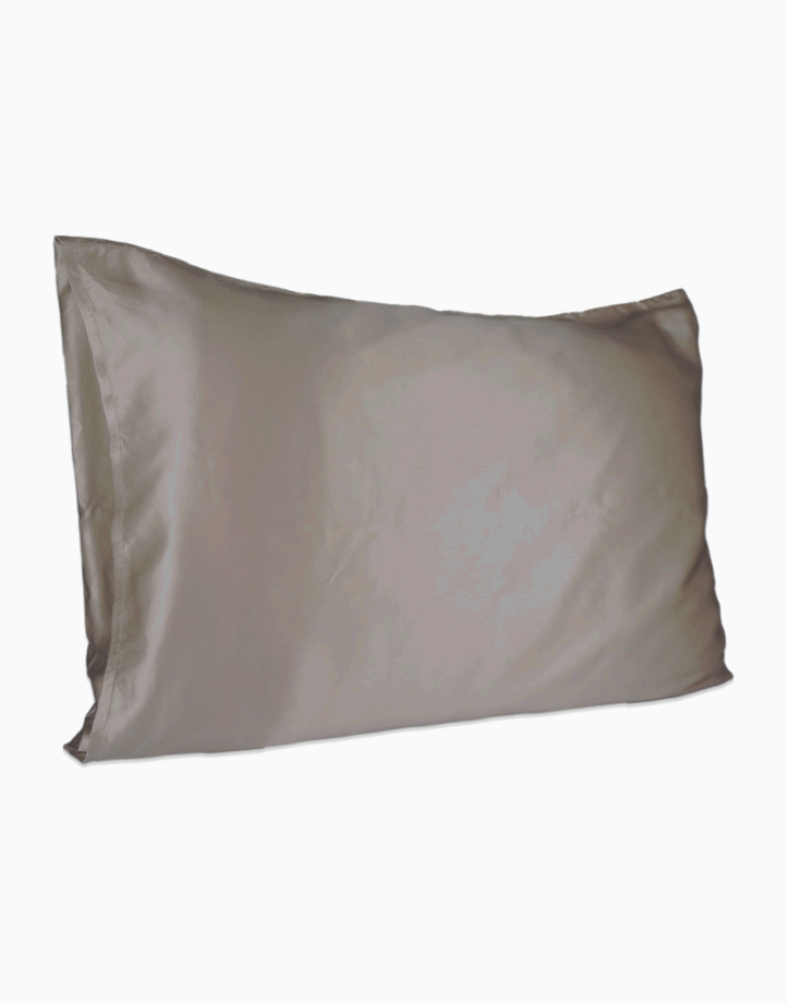 Silk Pillowcase by Lily & Adora | Charcoal 19 momme