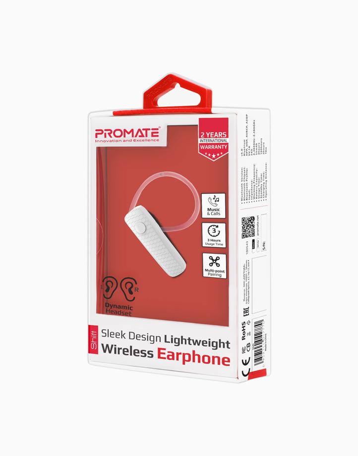 Shift Sleek Design Lightweight Wireless Mono Earphone by Promate