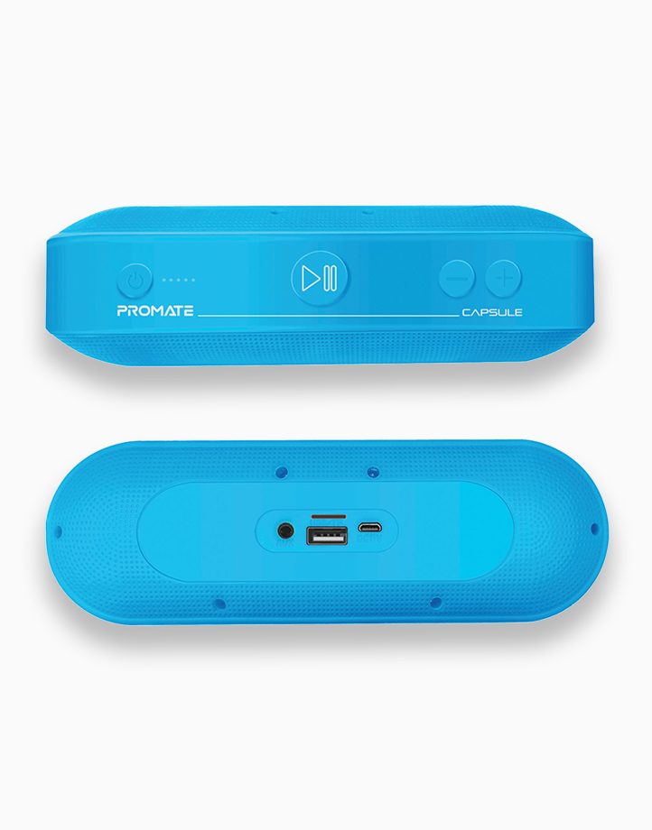 Capsule High Definition 6W Portable Speaker with Bluetooth v5.0 by Promate   Blue