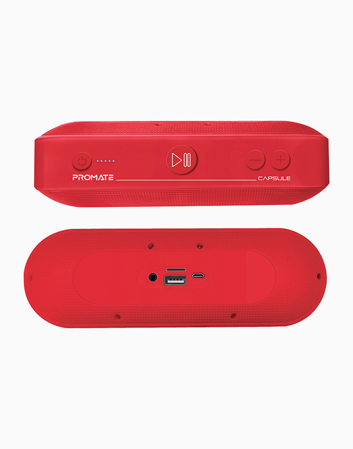 Capsule High Definition 6W Portable Speaker with Bluetooth v5.0 by Promate   Maroon