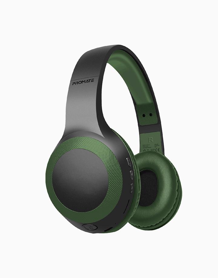 Laboca Deep Bass Over-Ear Wireless Headphones by Promate | Midnight Green