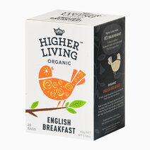 Higher Living Organic English Breakfast Tea (20 bags / 45g) by Raw Bites