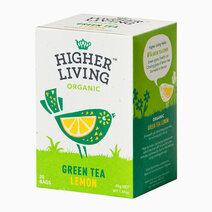 Higher Living Organic Green Tea Lemon Tea (20 bags / 40g) by Raw Bites