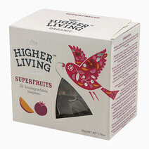 Higher Living Organic Superfruits Tea (20 Teapees Bags / 50g) by Raw Bites