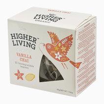 Higher Living Organic Vanilla Chai Tea (20 Teapees Bags / 50g) by Raw Bites
