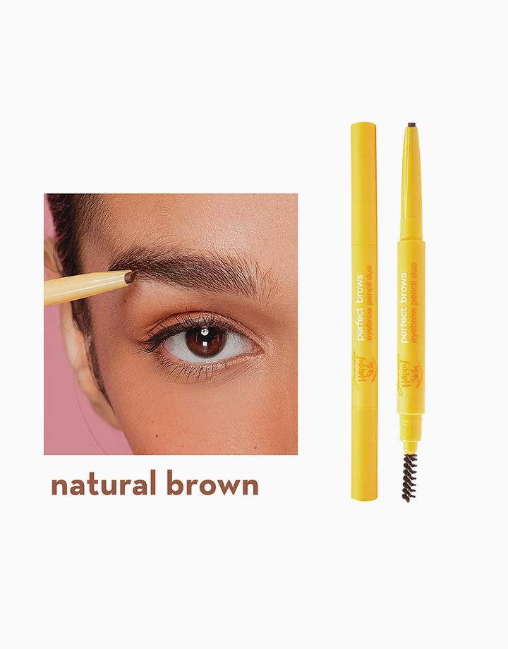 Generation Happy Skin Perfect Brows Eyebrow Pencil Duo by Happy Skin | Natural Brown