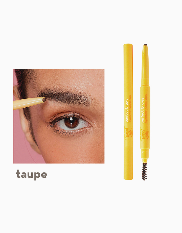 Generation Happy Skin Perfect Brows Eyebrow Pencil Duo by Happy Skin | Taupe