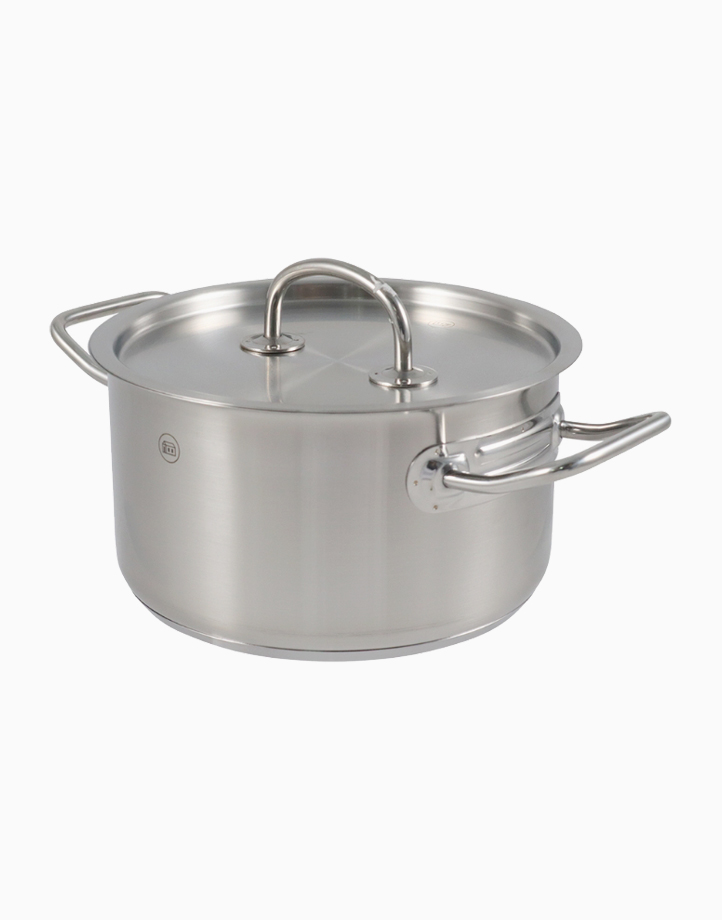 Pro-X Stainless Steel High Casserole with Lid (20cm, 3L) by Carl Schmidt Sohn