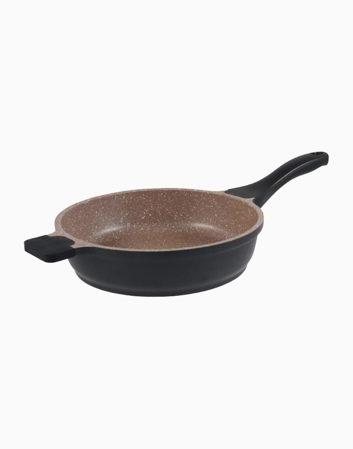 K2 Die Cast Aluminum Deep Fry Pan with Greblon 5 Layer Granitec in Brown Color (24x6.2cm) by Carl Schmidt Sohn