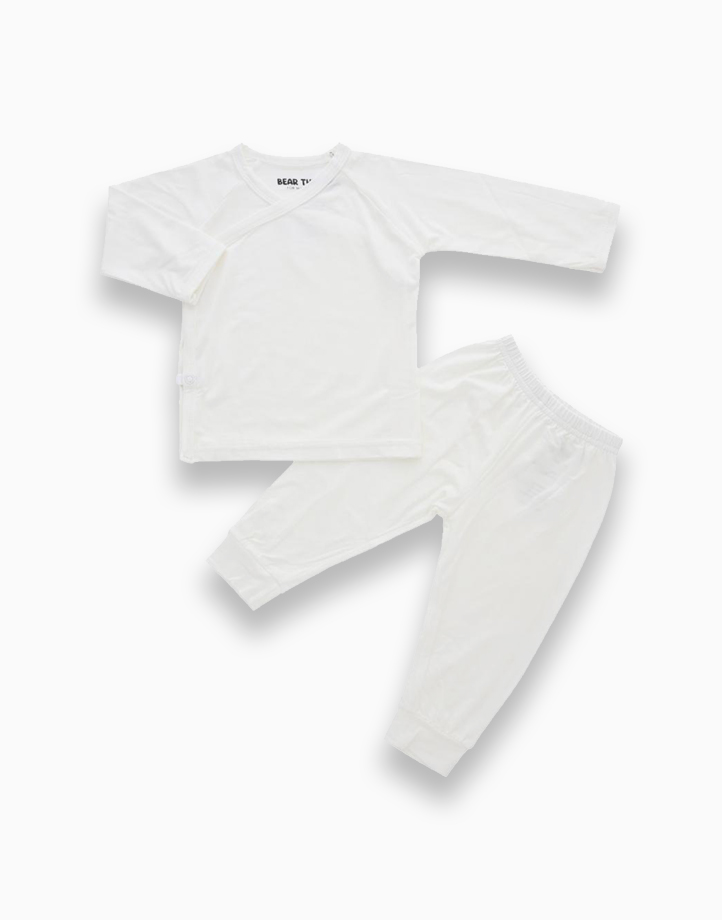Bindy White Kimono PJ Set by Bear the Label   0-3 Months