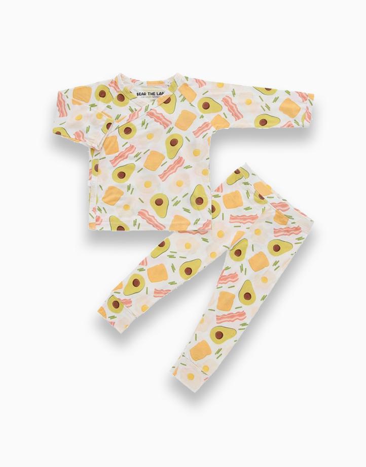 Bindy Avocado Toast Kimono PJ Set by Bear the Label | 6-12 Months
