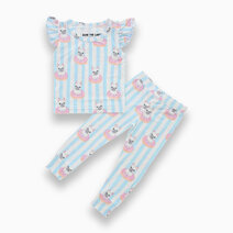 Evie French Bulldog Donut Ruffled Sleeves + Pants Set by Bear the Label