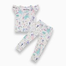 Evie Unicorn Ruffled Sleeves + Pants Set by Bear the Label