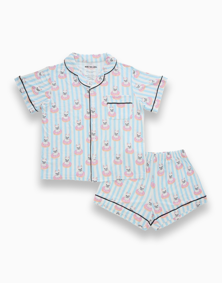 Kelly French Bulldog Donut Adult Short Sleeves + Shorts Set by Bear the Label   L