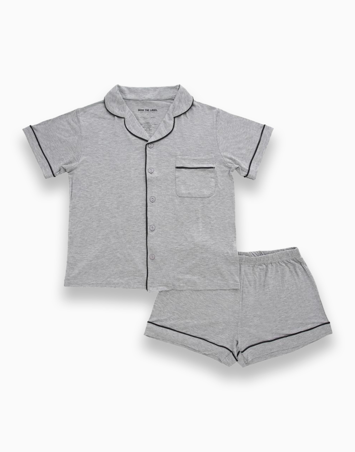 Kelly Grey Adult Short Sleeves + Shorts Set by Bear the Label   S