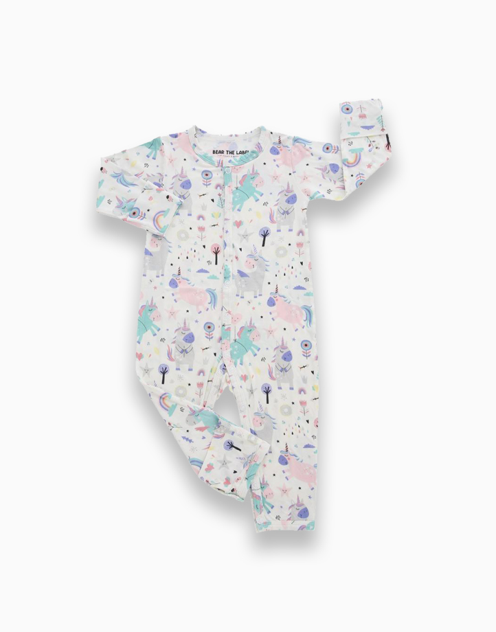 Zoe Unicorn Snap Button Romper by Bear the Label | 0-3 Months