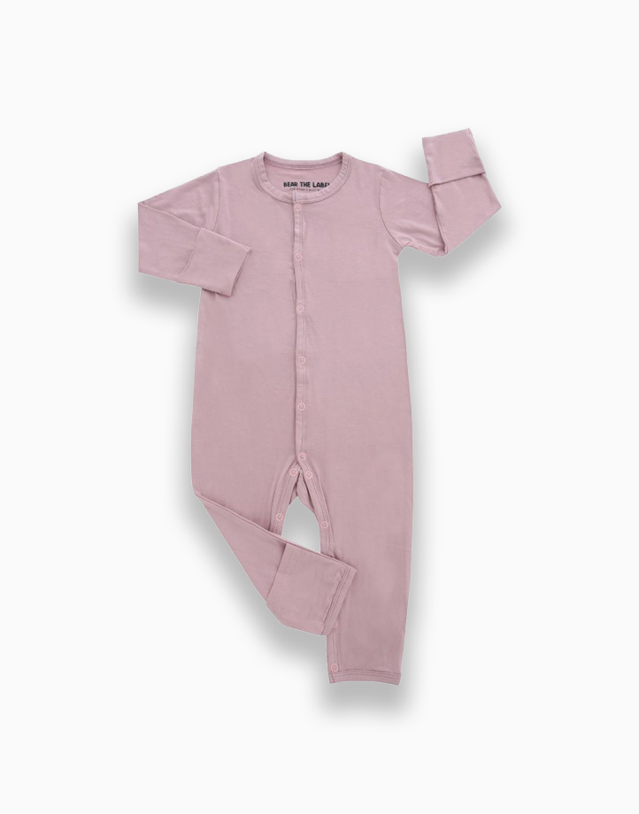 Zoe Mauve Pink Snap Button Romper by Bear the Label | 0-3 Months