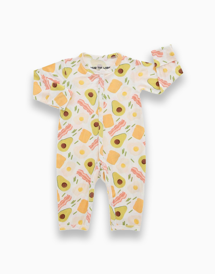 Zoe Avocado Snap Button Romper by Bear the Label   0-3 Months