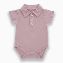 Lilo Mauve Polo Short Sleeved Romper by Bear the Label