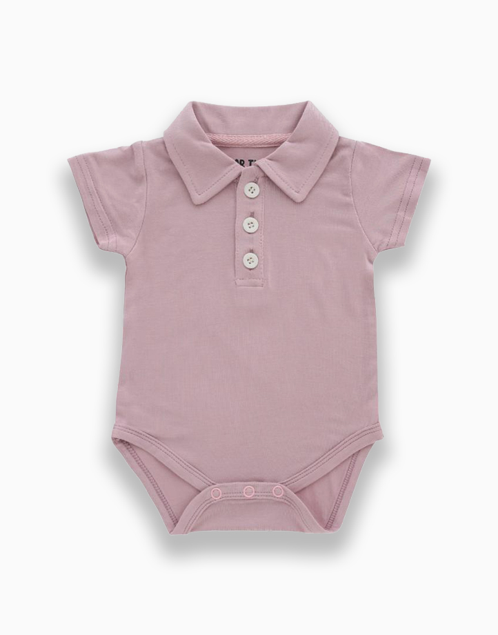 Lilo Mauve Polo Short Sleeved Romper by Bear the Label | 3-6 Months