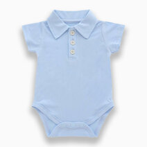 Lilo Blue Polo Short Sleeved Romper by Bear the Label