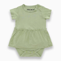 Amelia Moss Green Skirted Bodysuit by Bear the Label
