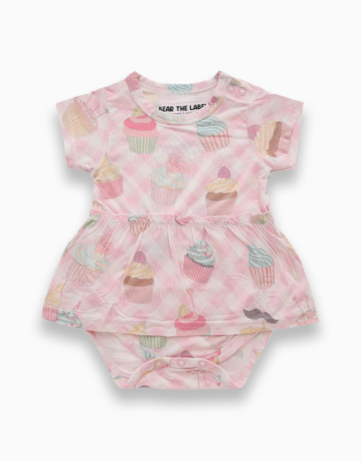 Amelia Cupcake Skirted Bodysuit by Bear the Label   6-12 Months