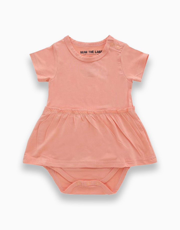 Amelia Coral Skirted Bodysuit by Bear the Label | 0-3 Months