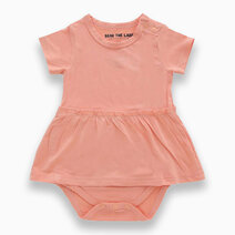 Amelia Coral Skirted Bodysuit by Bear the Label
