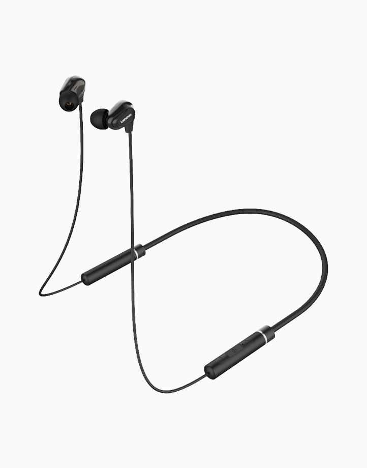 HE08 Dual Dynamic Neckband Bluetooth Headset (Black) by Lenovo