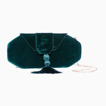 Forest Green Velvet clutch by Habi Home