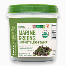 Raw Organic Marine Super Greens Blend Powder (227g) by BareOrganics