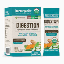 On-the-Go Organic Vegan DIGESTION Superfood Water Enhancer (12 Sticks) by BareOrganics