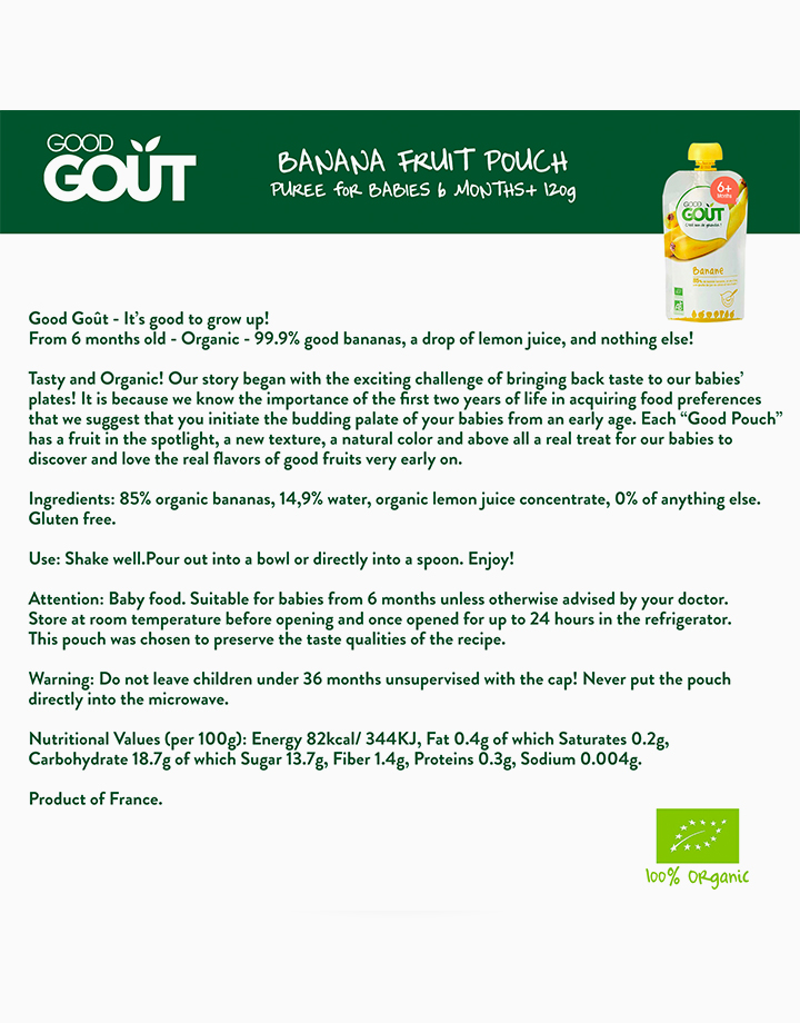 Banana (120g, 6 mos) by Good Goût