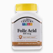 Folic Acid 400mcg (250Tabs) by 21st Century