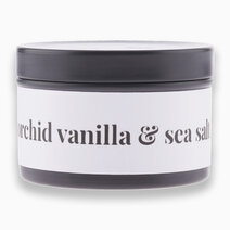 Orchid Vanilla & Sea Salt Scented Soy Candle (2oz) by Happy Island