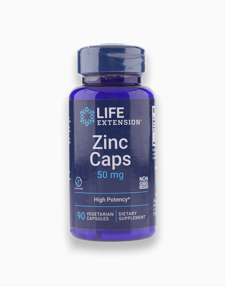 Zinc Caps - High Potency (50mg, 90 Vegetarian Capsules) by Life Extension